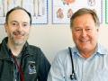Dr. Charles Webb and Dr. Jim Busser