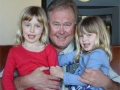 Charles Webb and his daughters